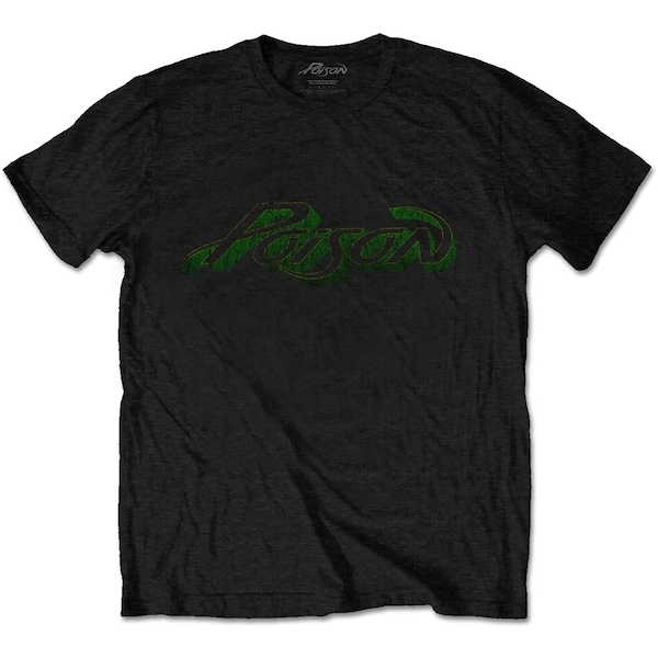 Poison - Vintage Logo Unisex Small T-Shirt - Black
