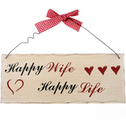 Happy Wife, Happy Life Hanging Sign