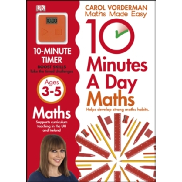 10 Minutes a Day Maths Ages 3-5 by Carol Vorderman (Paperback, 2013)