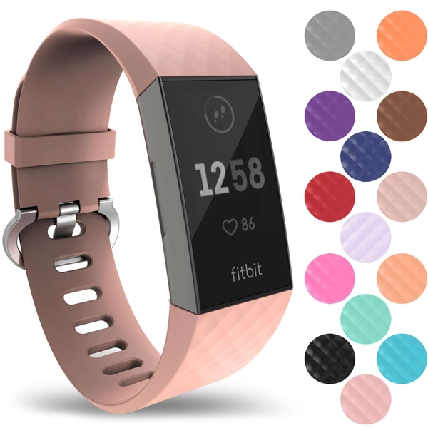YouSave Activity Tracker Silicone Strap - Large (Rose Gold)