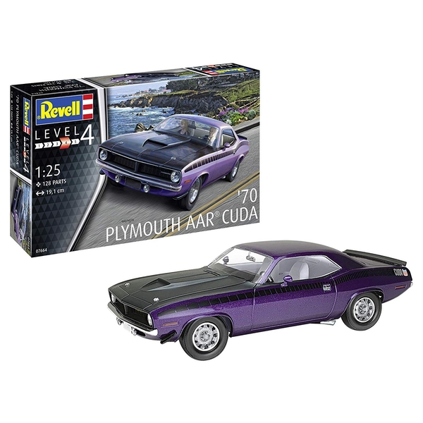 1970 Plymouth AAR Cuda 1:25 Scale Level 4 Revell Model Kit