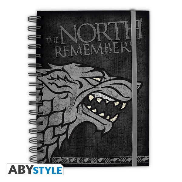 Game Of Thrones - The North Remembers Stark Notebook
