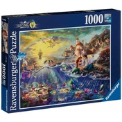 Disney The Little Mermaid Thomas Kinkade Ariel 1000 Piece Jigsaw Puzzle