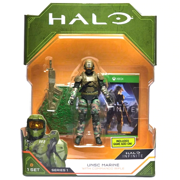 UNSC Marine With Commando Rifle (World Of Halo) Action Figure