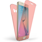 Samsung Galaxy S6 Edge Full Body 360 TPU Gel Case - Rose Gold