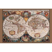 17th Century World Map Maxi Poster