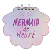 Mermaid Shell Iridescent Spiral Notebook