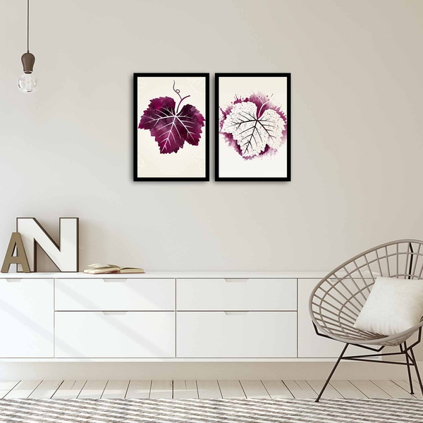2PSCT-02 Multicolor Decorative Framed MDF Painting (2 Pieces)
