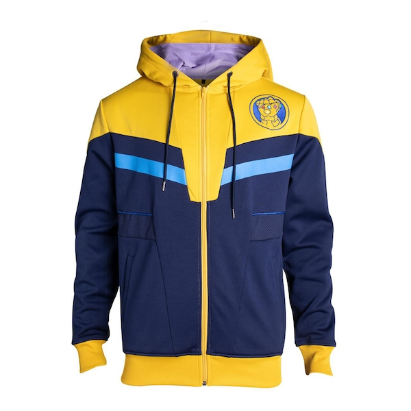 Marvel Comics - Thanos Outfit Men's X-Large Hoodie - Blue/Yellow
