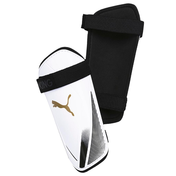 Puma King ES 2 Slip In Guards White/Gold Large