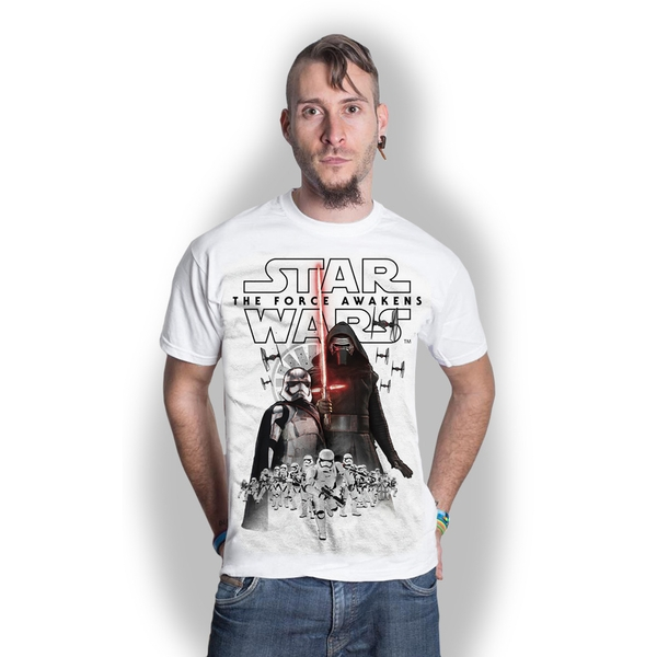 Star Wars - Episode VII New Villains Unisex Medium T-Shirt - White