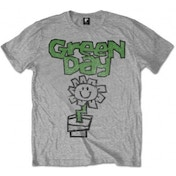 Green Day Flower Pot Mens Grey T Shirt: XXL