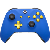 Xbox One S Controller - Blue Velvet & Gold Edition