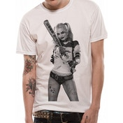 Suicide Squad - Bat Unisex Small T-Shirt - White