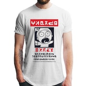 Rick And Morty - Alien Morty Wanted Poster Men's Medium T-shirt - White