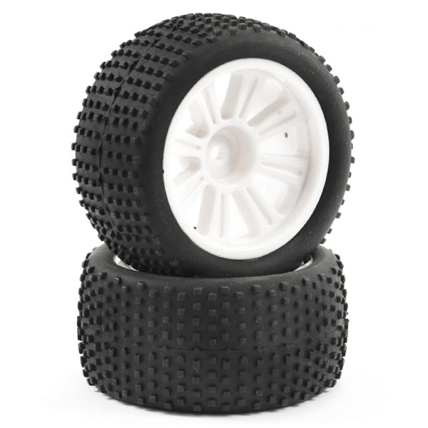 Ftx Comet Truggy Rear Mounted Tyre & Wheel White