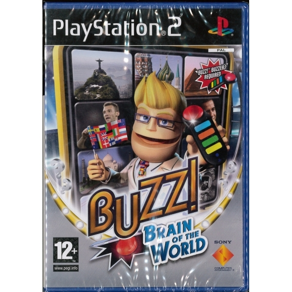 Buzz! Brain Of The World Solus Game PS2