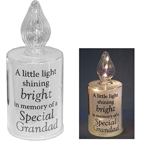 Thoughts Of You Memorial Candle Light - Grandad