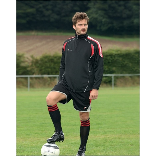 Precision Ultimate Training Top Black/Red/Silver 30-32 inch