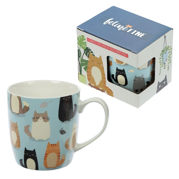 Feline Fine Cat Design  New Bone China Mug