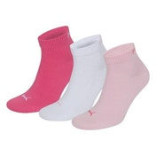 Puma Quarter Training Socks Pink (3 Pairs) UK Size 2.5-5