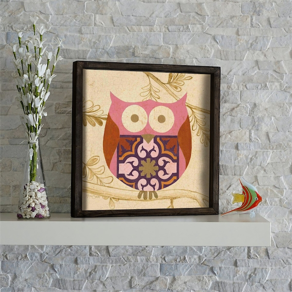 KZM565 Multicolor Decorative Framed MDF Painting