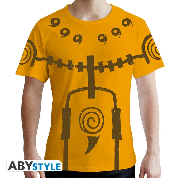 Naruto Shippuden - Chakra Mode Men's Small T-Shirt - Yellow