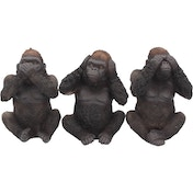 Three Wise Gorillas Figurine