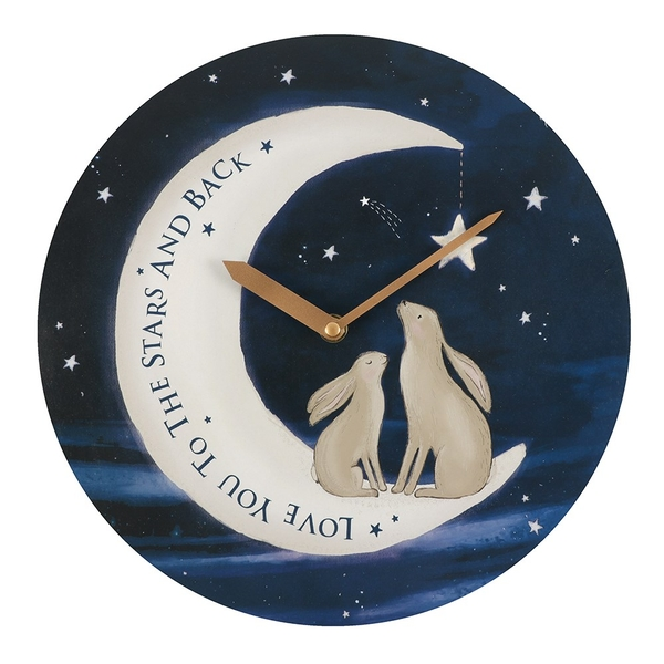 28cm Love You To The Moon & Back MDF Round Clock