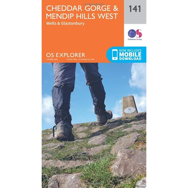 Cheddar Gorge and Mendip Hills West by Ordnance Survey (Sheet map, folded, 2015)