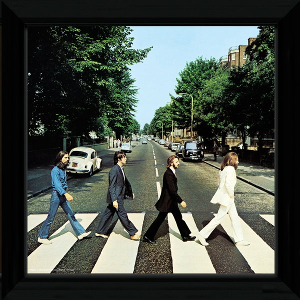 The Beatles Abbey Road Framed Album Cover