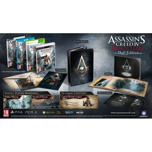 Assassin's Creed IV 4 Black Flag Skull Edition (Nordic) Xbox 360 Game