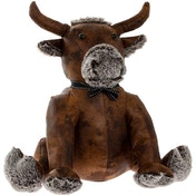 Lesser & Pavey Faux Leather Bull Sitting Doorstop