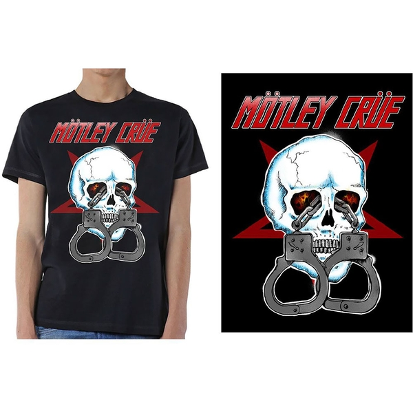 Motley Crue - Skull Cuffs 2 Men's X-Large T-Shirt - Black
