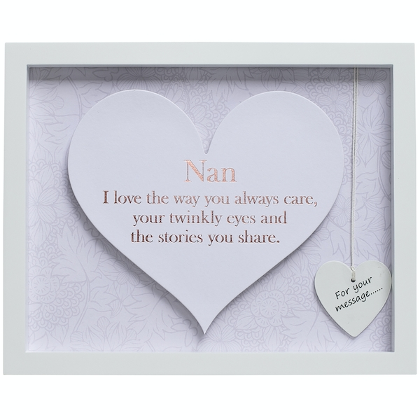 Said with Sentiment Rectangular Heart Frames Nan