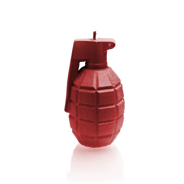 Red Small Grenade Candle
