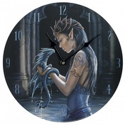Anne Stokes Water Dragon 34cm Clock