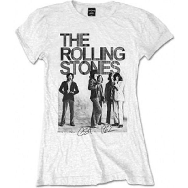 Rolling Stones Est 1962 Group White Ladies T Shirt: Small