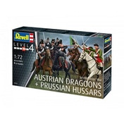 Seven Years War Austrain Dragoons & Prussian Hussars 1:72 Revell Model Kit