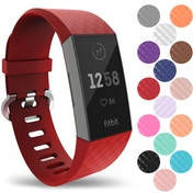YouSave Fitbit Charge 3 Silicone Strap - Large - Red