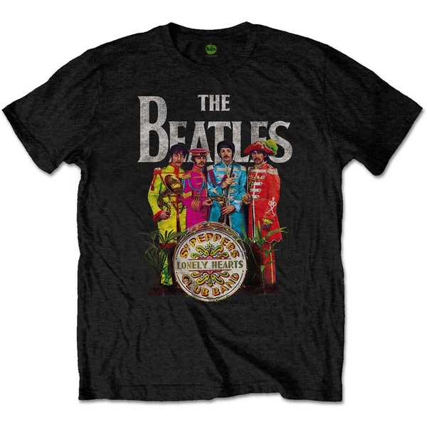 The Beatles - Sgt Pepper Unisex X-Large T-Shirt - Black