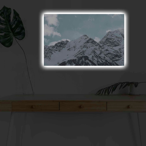 4570KARDACT - 025 Multicolor Decorative Led Lighted Canvas Painting