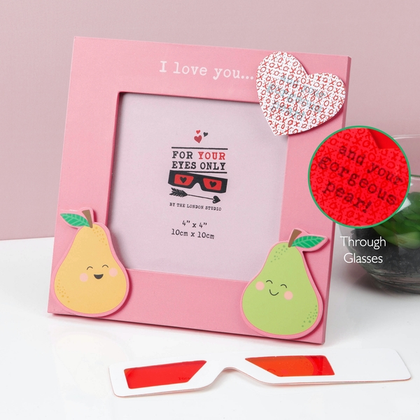 For Your Eyes Only X-Ray Lovely Pear Photo Frame | 4x4