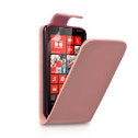 YouSave Accessories Nokia Lumia 620 Leather-Effect Flip Case - Baby Pink