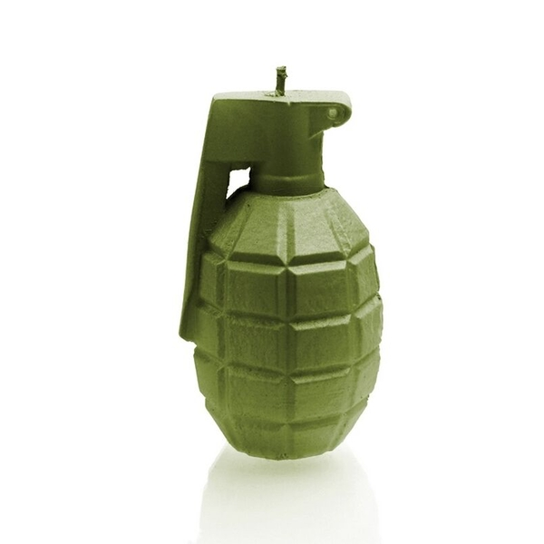Olive Large Grenade Candle