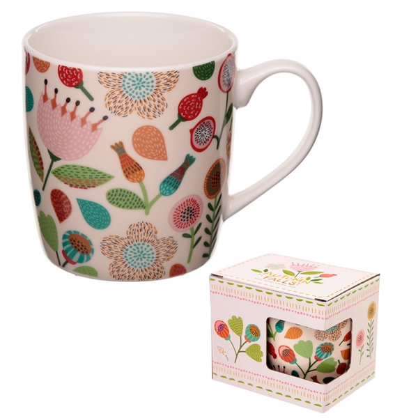 Autumn Falls Floral Design New Bone China Mug