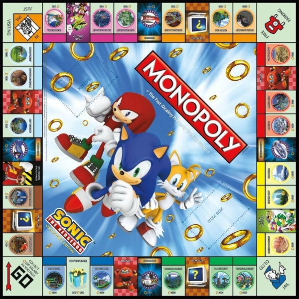 Monopoly Sonic The Hedgehog Spare Board