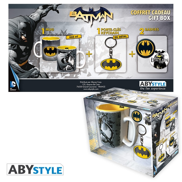 DC Comics - Mug + Keychains + Badges Batman Gift Box