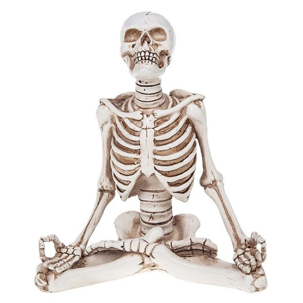 Funny Bone Skeleton Sit Om Large Ornament