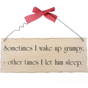 Sometimes I Wake Up Grumpy Hanging Sign